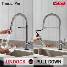 touch2o kitchen faucet delta faucets trinsic pro series single handle pull down with