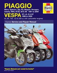 piaggio vespa scooters 91 09 haynes repair manual haynes