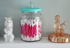 upcycled bathroom jars femme fraiche