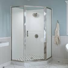 Neo Shower Door Infinity Semi Frameless 1 4 Inch Glass Neo Angle Basco Shower Doors