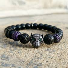 bracelet black images Black panther unisex bracelet purple on black love jones jewels jpg
