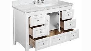Shaker Style Vanity Bathroom Exclusive 55 Inch Carrara White Marble Stone Top Bathroom Single