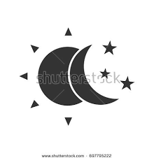 Glyph Symbol - sun moon glyph icon silhouette stock vector 697795222