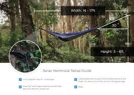 serac ultralight hammock setup guide serac hammocks