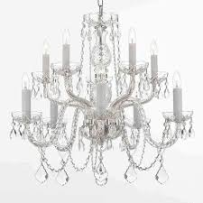 Silver Chandelier Gallery All 10 Light Silver Chandelier Free Shipping