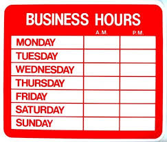 business hours sign template business hours sign template template