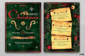 menu design resources christmas menu template v2 from designbundles net graphic design