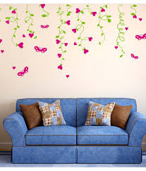 stickerskart multicolor sofa background lovely hearts hanging from stickerskart multicolor sofa background lovely hearts hanging from vines living room design wall stickers