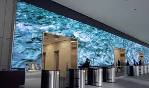 office video wall on the rise is this the best office lobby ever