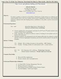 Example Resumes For Teachers by Objective For Resume For Teaching Profession Free Resume Example