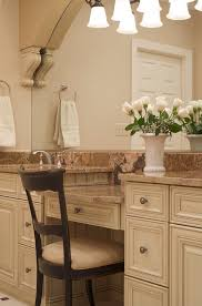 Standard Height Bathroom Vanity by Oval Standard Height Kitchen Transitional With Walnut Flooring