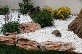 White Rock Garden Garden Decorative Rocks How To Arrange A Rock Garden Design Ideas