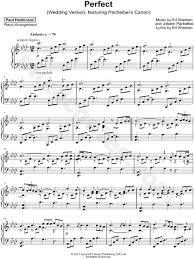 ed sheeran perfect chord original paul hankinson perfect wedding version sheet music piano solo