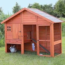 Rabbit Hutch With Large Run This Unique Two Story Rabbit Hutch With Gabled Roof Is Ideal For