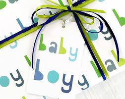baby boy wrapping paper boy wrapping paper etsy