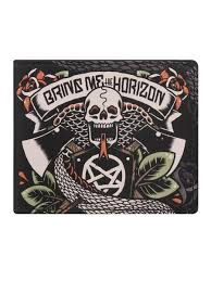bring me the horizon tattoo bi fold wallet buy online at