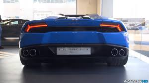 lamborghini back light blue lamborghini huracan lp610 4 spyder at lamborghini