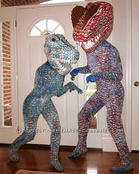 super cool homemade dinosaur couple costume halloween costume