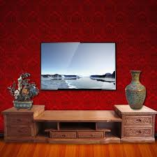Cabinets Living Room Furniture Red Sandalwood Living Room Tv Cabinet Combination Audiovisual