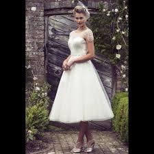tea length wedding dresses uk violet tea length vintage style wedding dress knee tea