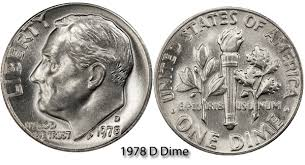 1978 dime error 1978 d roosevelt dime value