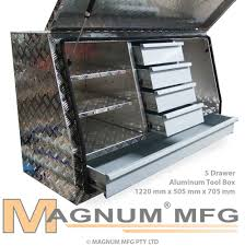 Ford Ranger Truck Tool Box - 1220x505x705mm heavy duty aluminium toolbox ute truck tool box