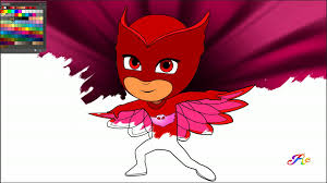 pj masks coloring book for kids amaya owlette coloring page