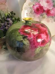 austrian vases antique beautiful antique porcelain vienna austria rose vase bulbous body