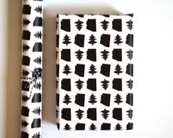 manly wrapping paper 5 wrapping paper sheets white and black christmas