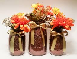 Mason Jar Arrangements Fall Mason Jar Centerpieces Thanksgiving Decorations Rustic Fall