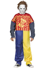 michael myers costume michael meyers clown child costume walmart