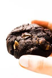 chewy chocolate brownie cookies vegan grain free feasting on