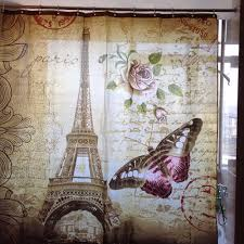 Eiffel Tower Window Curtains by Shower Curtain Eiffel Tower Picture More Detailed Picture About