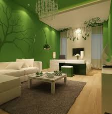 superb green living room wall paint color ideas with tree wall
