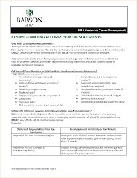 Job Description In Resume by Accomplishments In Resume Business Proposal Templated Business