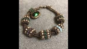 interlace beaded bead u0026 tubular herringbone chain a bronzepony