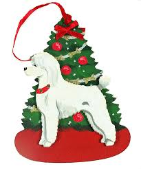 white poodle ornaments a of dogs for the
