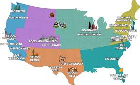 Us East Coast Map Silicon Maps Promotional Industry Maps For High Tech And Biotech