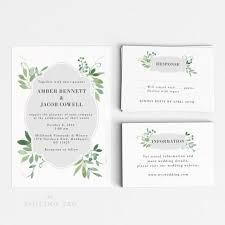 wedding invitations letter wedding invitation printable set watercolor botanical garden