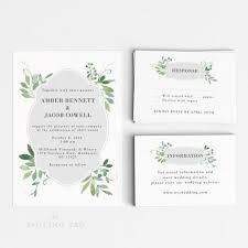 wedding invitations letter wedding invitation printable set watercolor botanical garden