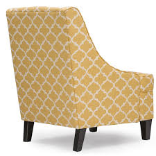 Patterned Living Room Chairs by Baxton Studio Lotus Contemporary Fabric Armchair Yellow