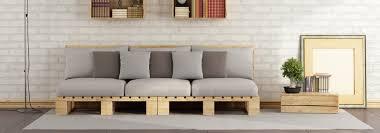 fabriquer canapé diy comment fabriquer un canapé en palettes de bois cdiscount