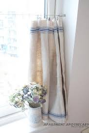 kitchen cafe curtains ideas vintage linen grain sack cafe style curtain like curtain how it is