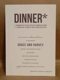 modern dinner invitation engagement rehearsal dinner supper or