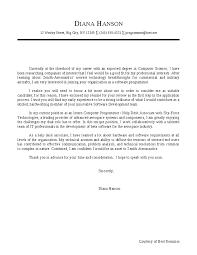 computer science cover letter jvwithmenow com