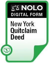 new york quitclaim deed legal form nolo