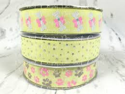 designer ribbon 7 8 dog ribbon paws bones dots us designer ribbon glitter