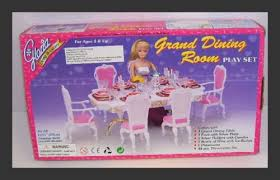 Barbie Dining Room Set Barbie Doll Sized Grand Dining Room Furniture U0026 Accessories Toys