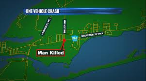 Pensacola Map Deadly One Car Crash In Pensacola Wkrg