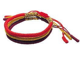 knot rope bracelet images Tibetan buddhist handmade lucky knot rope bracelet set of 3 red jpg